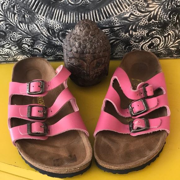 af1cb219bc4 Birkenstock Shoes - BIRKENSTOCKS SANDAL TRIPLE STRAP PINK LTHR SZ 7